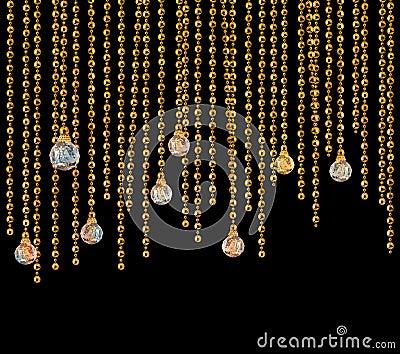 Glitter glamour curtains