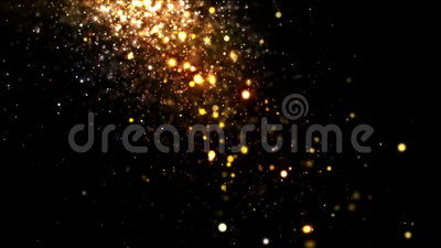 Glitter Gold Falling. Glittering particles sparkle and drift along on a soft current. This is 1 clip in a set of 3. All clips are available in 4 different color