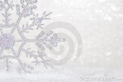 Glitter Snowflake in snow