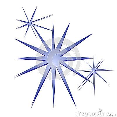 Glitter Sparkles Stars Blue