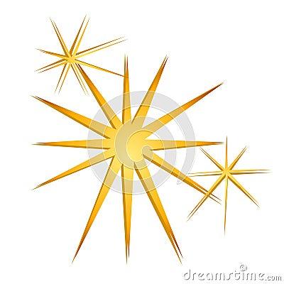 Glitter Sparkles Stars Gold