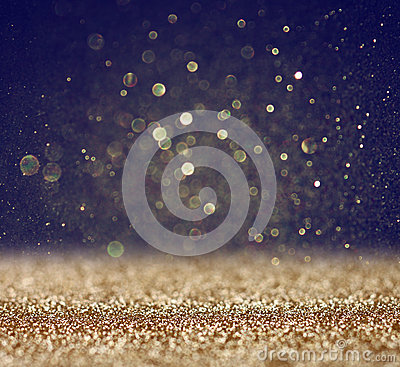 Free Glitter Vintage Lights Background. Light Gold And Black. Defocused. Royalty Free Stock Photo - 40233945