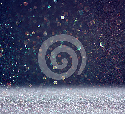 Free Glitter Vintage Lights Background. Light Silver And Black. Defocused. Stock Photos - 43070193