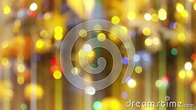 Glittering Bliższe światła Lights on Fir Tree New Year and Christmas Tree Decorations Piękny zbiory wideo