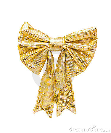 Glittering bow