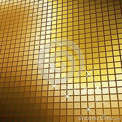 Glittering golden mosaic