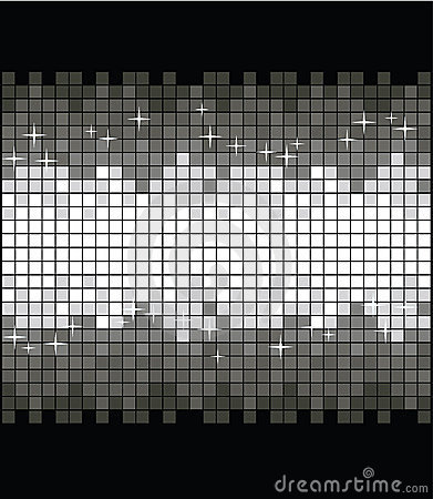 Glittering silver background