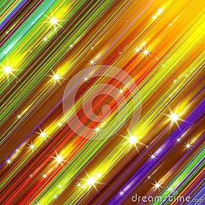 Glittering stars blurred