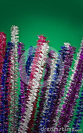Glittery farbige Pfeifenreiniger