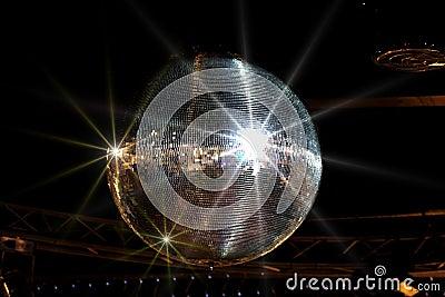 Glänzende Discokugel