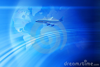 Global Airplane Travel Business Background