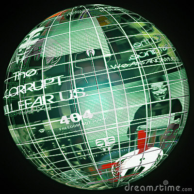 Global Anonymous Editorial Stock Image