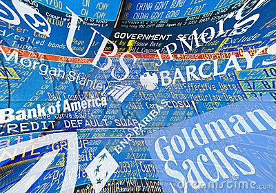 Global Banks Editorial Photography