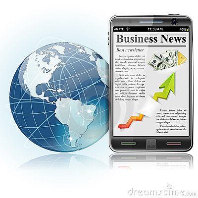 Global Business. News on Smart Phone