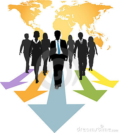 Free Global Business People Forward Progress Arrows Stock Image - 17977511