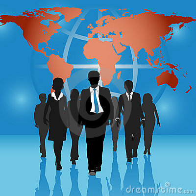Free Global Business People Team World Map Background Royalty Free Stock Photography - 14339157