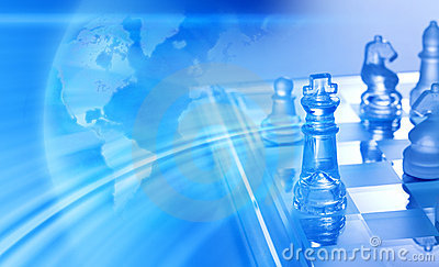 Global Business Strategy Chess Background