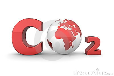 Global Carbon Dioxide CO2 - Shiny Red