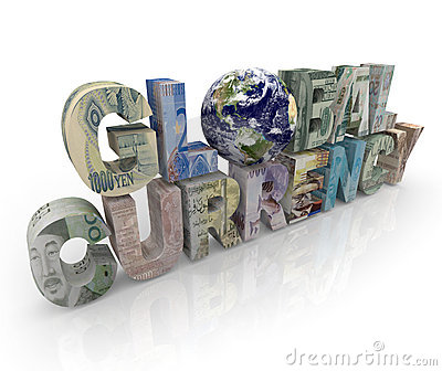 Global Currency - World and Money on Letters