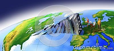 Global domino effect
