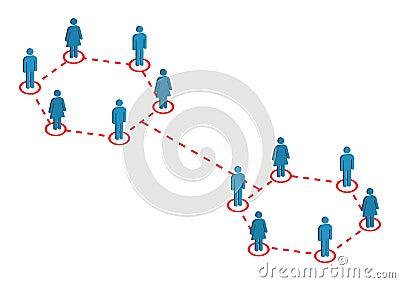 Global Emloyee Distribution Illustration