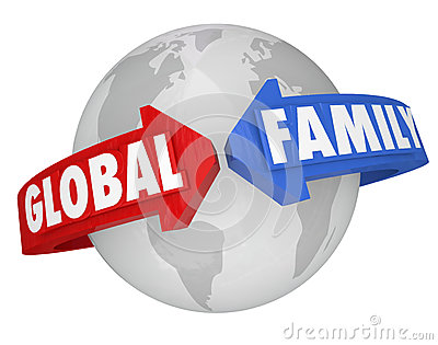 Global Family Words Around Planet Earth Common Community Goals