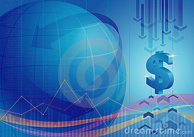 Global Financial Background Stock Photography - Image: 12992272