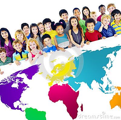 Free Global Globalization World Map Environmental Concept Royalty Free Stock Photos - 56679138