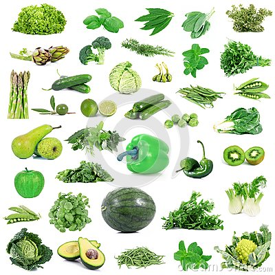Free Global Green Gastronomy Collage In White Background Stock Photos - 109199633