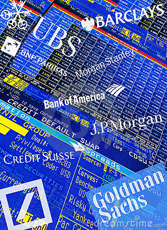 Global Investment Banks Editorial Stock Image