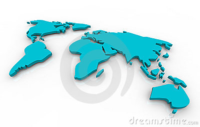 Global map - blue on white background