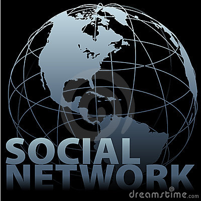 Global media SOCIAL NETWORK Earth Globe