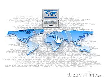Global network - internet symbols