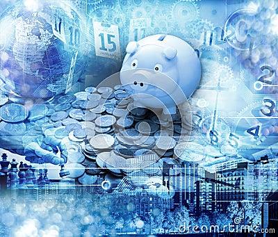 Global Piggy Bank Money Business