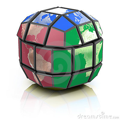 Global politics, globalization 3d concept
