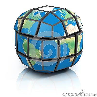 Global politics, globalization 3d illustration