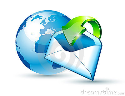 Global Shipping and Communication Email concept