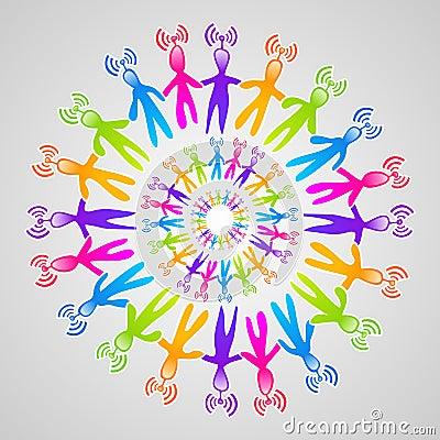 Global social media network mandala