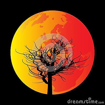 ¡Es sólo un árbol tapando la Luna!