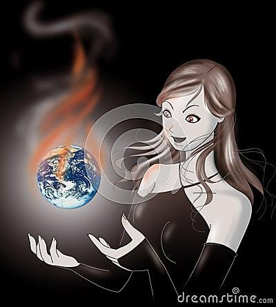 Global warming, earth in danger