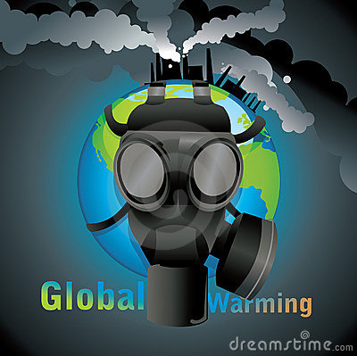 Global warming gas mask