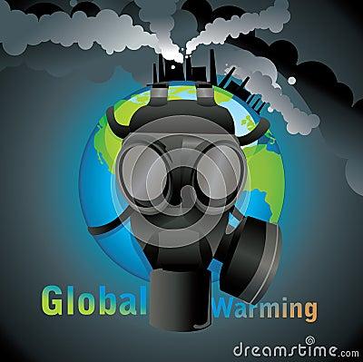 Global warming gas mask