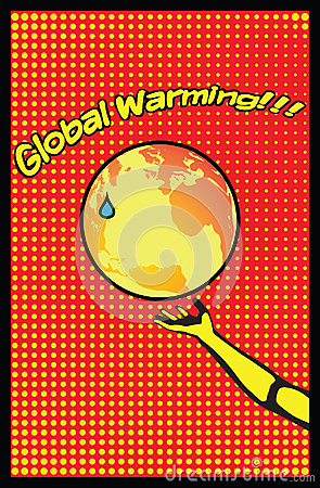 Global Warming Mother Earth Pop Art Poster