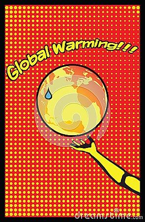 Global Warming Mother Earth Pop Art Poster