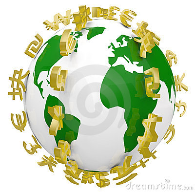 Global World Currency Symbols Around World