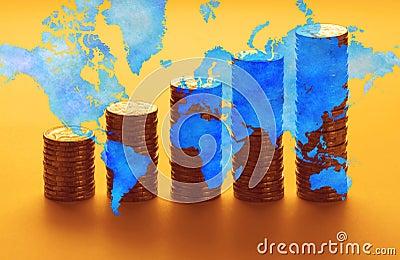 Global World Economy Money Superannuation