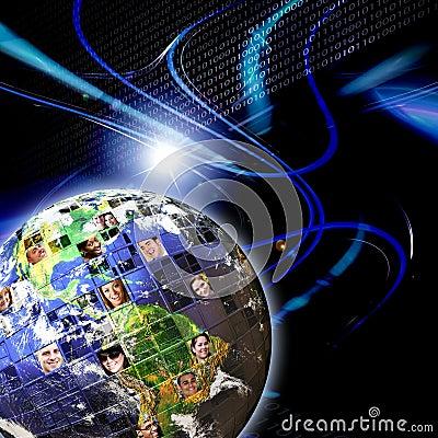 Free Global Worldwide Network Of People Stock Photography - 18745782