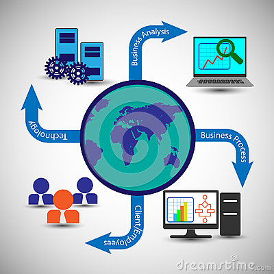 Free Globally Connecting Business Process, Business People Or Customers, Enterprise Monitoring Systems. Royalty Free Stock Photos - 66723088