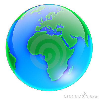 Free Globe 01-no Shadow Royalty Free Stock Photos - 1234198