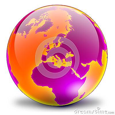 Globe 03 - magenta